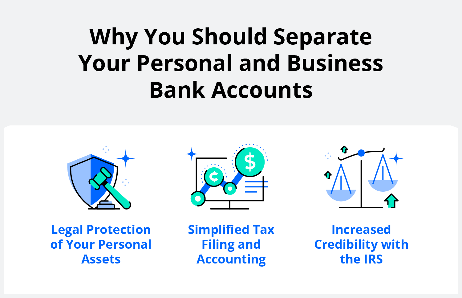 separate personal and business accounts