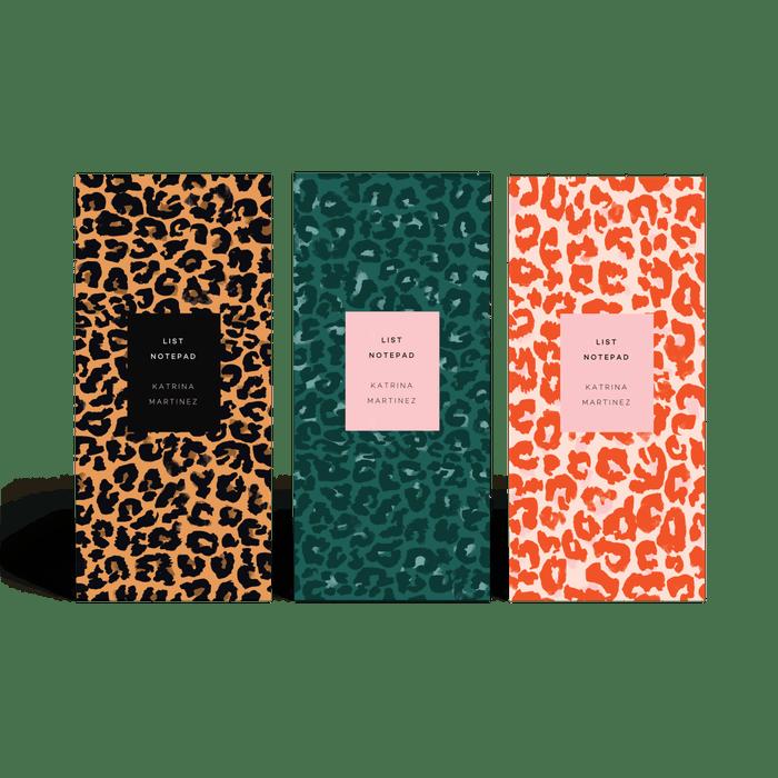 papier leopard print list notepads